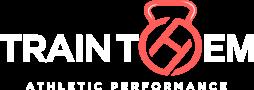TrainThem Logo White _ Coral Inverted@2x
